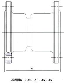 YB43X固定比例减压阀结构图