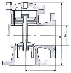 H142X液压水位控制阀结构图