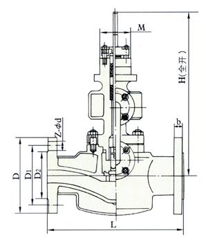 夹套保温直通式截止阀结构图